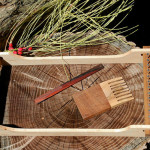 Did you win this handmade portable loom and handspun yak down yarn?