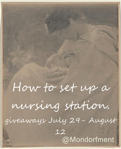 Setting up a nursing station for the breastfeeding momma