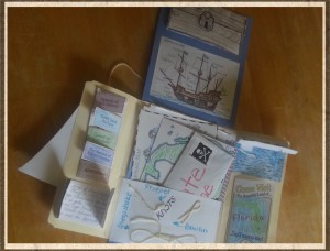 New World Explorers, Maps, Columbus sailed the Ocean Blue