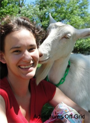 Adventures off grid Nicole and goat
