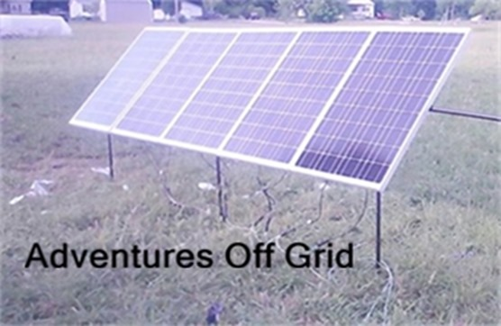 Adventures off grid solar panels