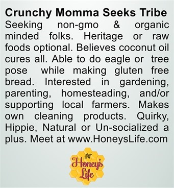 Crunchy momma seeks tribe at Honeys Life