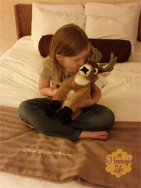 Bucky is a tangible reminder of our fun time at Ohio's Mohican State Park and Lodge.